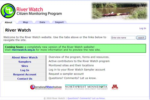 River Watch Web Site